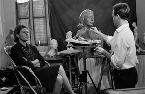 Ingrid Bergman poserar för Gudmar Olovson i Paris 1964. Bild: Reporters Associes/Getty Images/TT