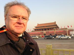 Lars Moberg i Peking. Foto: Privat