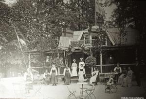 Stora Holmens restaurang, tidigt 1900-tal. Okänd fotograf. Bildkälla: Örebro stadsarkiv