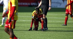 Ammar Ahmed tvingades bryta matchen efter Östers 1–0-mål. Oroväckande för Syrianska, som kan tappa sin bästa spelare med två omgångar kvar.