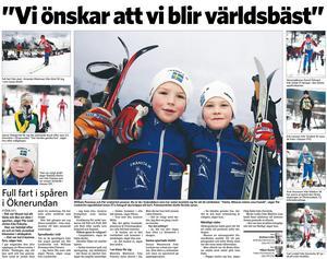 Sundsvalls Tidning måndag den 12 januari 2009.