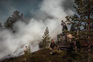 Länsstyrelsen Dalarna har utfärdat ett förbud att vistas i det område där skogsbranden härjade i Älvdalen.
