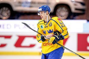 Fredrik Händemark ordnade segern för Tre Kronor över Ryssland. Bild: Michael Erichsen/Bildbyrån