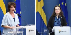 Matilda Ernkrans (S), minister för högre utbildning och forskning och utbildningsminister Anna Ekström (S).