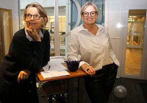 NA:s marknadskoordinatorer Karin Andersson och Laila Johansson.