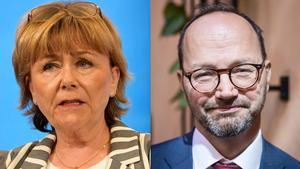 Riksdagsledamot och Svegsbördiga Beatrice Ask (M) och infrastrukturminister Tomas Eneroth (S).