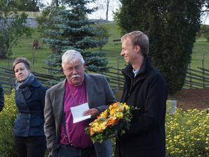 Biskop Claes-Bertil Ytterberg tillsammans med sin stiftsadjunkt Mikael Mogren 2014. Foto: Peller Söderbäck