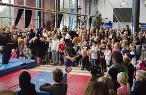 Många barn besökte Playday i Gavlerinken.