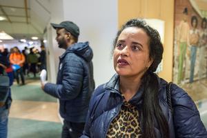 Arsiema Amiene tycker att mässan är bra. Hon har studerat sfi-vård i sex månader, och vill gärna läsa vidare till undersköterska.