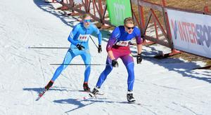 Edvin Anger under Lilla Skidspelen i Falun i mars.