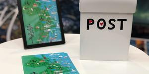 Visit Roslagen har låtit konstnären Anneli Asplund illustrera ett vykort med tips på aktiviteter i regionen. Foto: Visit Roslagen