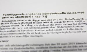 Barn- och utbildningsförvaltningen i Söderhamn har skrivit ett föreläggande att Bilaals förskolan ska åtgärda de brister som kommunen har fått uppgifter om.