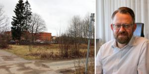 Längs med Fabriksgatan i Kumla planerar Pekum AB för fyra trapphus. Byggstart planeras till våren, säger Jan Hellqvist, vd för Pekum AB i Kumla.