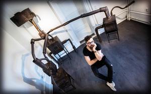 Maskiner och robotar i Härnösands konsthall.