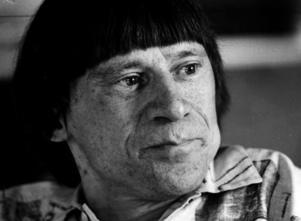 1985. Lars Färnlöf, framstående jazzmusiker. Lasses kvarter grundades av sonen Jonas i faderns minne. Foto: Lars Höglund