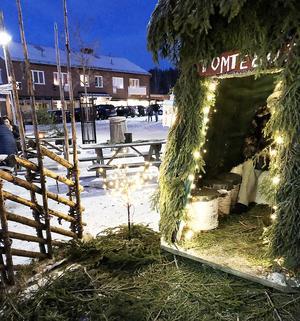 I tomtebo kunde barnen lämna sina önskelistor på julklappar.