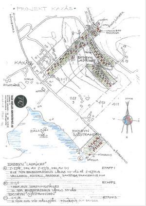 Bild över hur planen för området Ekobyn Ladriket ser ut i detaljplansansökan. Detaljer i planen kan komma att ändras.