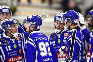 Villa Lidköping spelade hem elitseriesegern efter 9–3 hemma mot Broberg. Foto Mikael Fritzon