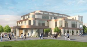 Så här ska fastighetsbolaget Vacses  nya tingsrätt i Norrköping se ut. Illustration: ÅWL arktitekter