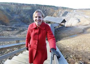 Anna Björkman, verksamhetschef på Falu gruva.