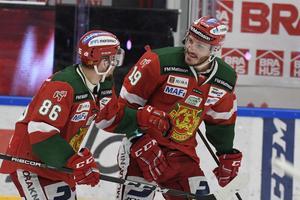 Mathias Bromé och John Persson var i högsta grad bidragande till att Mora klarade SHL-kontraktet i våras. Den här säsongen bevakar vi laget närmare än någonsin.Foto: Ulf Palm/TT