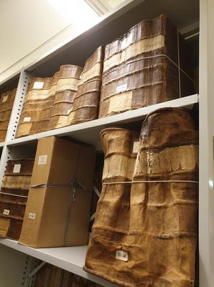 Några böcker var små och andra väldigt stora!