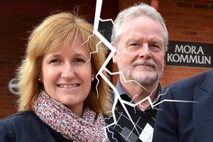 Anna Hed (C) och Lennart Sohlberg (S) är inte överens vad gäller den nya friskolan i Mora.
