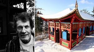 Anders Åberg uppförde ett stort antal byggnader och konstverk på Mannaminne. Arkivbilder: Eleonora Brodd/Arne Henriksson. Bilden är ett montage.