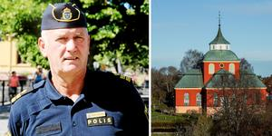 Rånaren tvingade till sig plånbok och kontanter enligt polisens presstalesperson Mikael Hedström. Montage: Bilder: Christoffer Urborn/Daniel Nilsson.