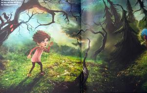 Barnet på monsterpromenad. Just på den här bilden är inte mamma med. Illustration: Alexander Jansson