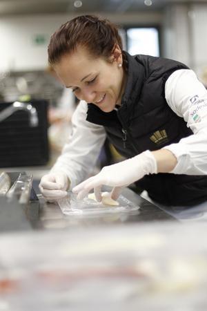 Frida Bäcke från Hedemora var en av konditorerna när det svenska kocklandslaget tävlade i OS.