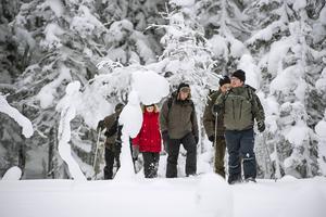 Skuleskogen har besökare även vintertid.