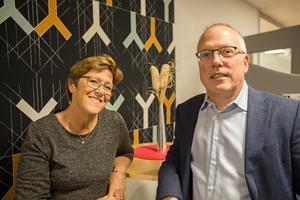 Framtiden för kommunen ser ljus ut, tycker både Märtha Dahlberg och  Cenneth Åhlund.