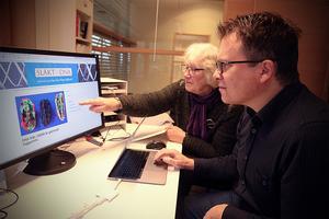 Peter Sjölund kunde berätta för Hjördis Lundmark att han hittat hennes anmoder på rakt nedstigande led för 10 000 år sedan. Från ett