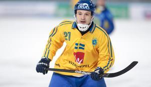 Christoffer Edlund gjorde tre mål och spelade fram till ett. Foto: Rikard Bäckman / Bandypuls.se / TT