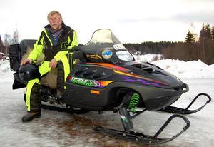 Snöskoterkörning är sedan många år ett av Göran Olssons stora intressen.