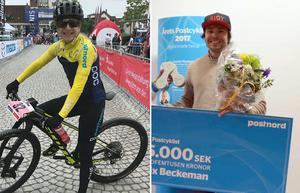 Jennie Stenerhag och Felix Beckeman. Foto: Svenska cykelförbundet