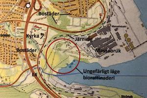 Här är den planerade platsen för bioraffinaderiet.