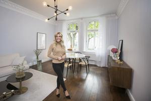 Louise Lindbäck stortrivs i paradvåningen på Staketgatan och i vår blir hon nybakad mäklare.