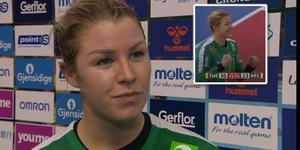 Västeråsfostrade Martina Thörn var en av Sveriges främsta spelare när Argentina besegrades med 30–23 i VM. Bild: TV6