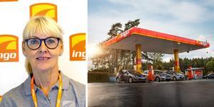 """""""Vi vänder oss till privatbilister och läget vid motorvägen är bra för förbipasserande där"""", säger Irmgard Mårtensson, kommunikationschef på Ingo, om den nya macken vid Scaniarinken. Bild: Ingo"""