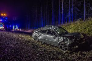 En trafikolycka inträffade på riksväg 68 under torsdagskvällen. Foto: Niklas Hagman
