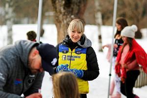 Det är första året loppet anordnas i Dalarna och Karin Hedlund är väldigt nöjd över att de 140 barnen på fyrklöverskolan deltog.