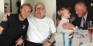 Alexander Younan och hans morfar Gunnar som gick bort i fredags. FOTO: Privat.