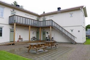 Bo-Klok-husen i Näsby innehåller sex lägenheter i varje huskropp.