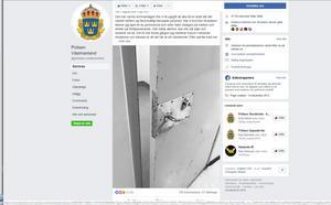Erik Björklunds inlägg om händelsen på polisens Facebooksida engagerade väldigt många läsare.