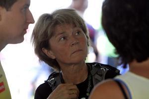 Förre orienteringsvärldsmästaren Anniken Kringstad fanns på plats i målområdet.