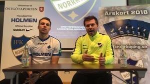 Lars Krogh Gerson presenterades på en presskonferens på fredagen. Foto: Norrköpings hemsida (Skärmdump).