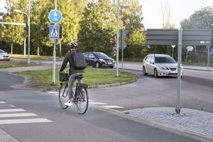 Rondellen vid Björnövägen Kraftverksgatan.