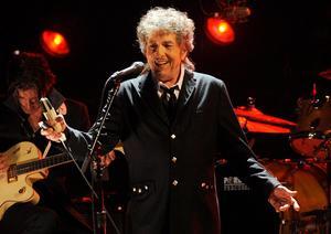 Den amerikanske rockartisten och låtskrivaren Bob Dylan tilldelades Nobelpriset i litteratur förra året. Foto: AP Photo/Chris Pizzello